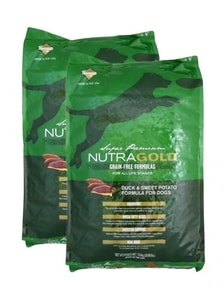 Nutra Gold Grain Free Duck and Sweet Potato 2 x 13,6 kg