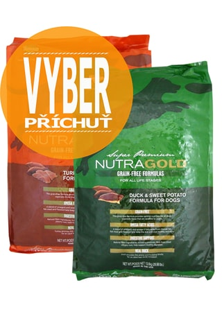 Nutra Gold Grain Free MIX balení 2 x 13,6 kg