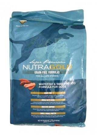 Nutra Gold Grain Free Whitefish and Sweet Potato 13,6 kg